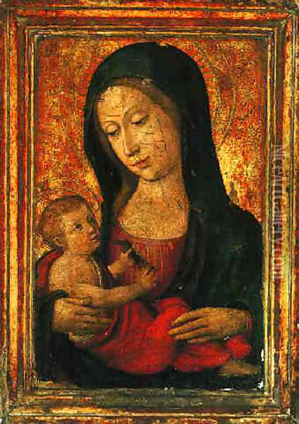 Madonna and Child Oil Painting - Ludovico Brea