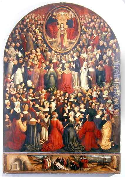 Coronation of the Virgin, 1513 Oil Painting - Ludovico Brea
