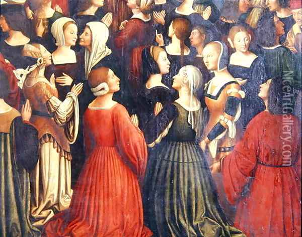 Coronation of the Virgin (detail-2) 1513 Oil Painting - Ludovico Brea