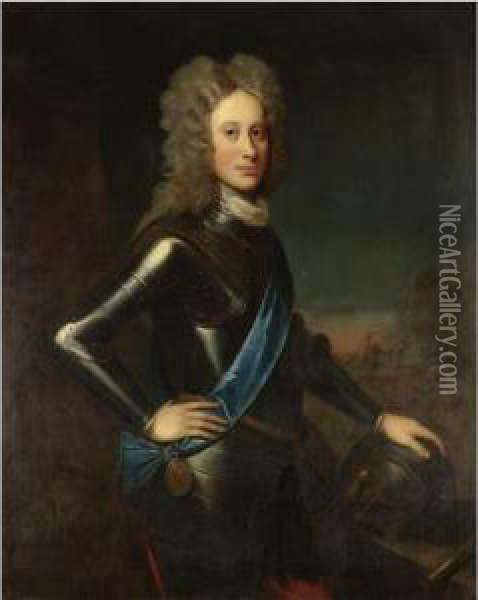 Portrait Of A Nobleman, Probably John Campbell, 2 Nd Duke Of Argyll (1680-1743) Oil Painting - William Aikman