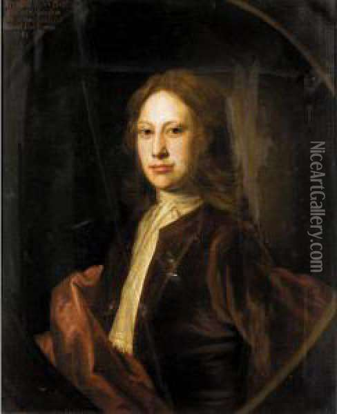 Portrait Of Archibald, 3 Rd  Son Of Charles, 9 Th  Lord Elphinstone (d.1741) Oil Painting - William Aikman