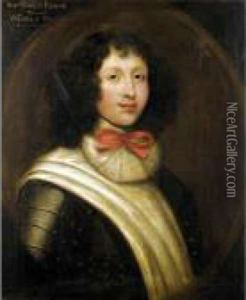 Portrait Of The Honourable Charles Fleming, Later 7 Th Earl Of Wigton (1675-1747) Oil Painting - William Aikman
