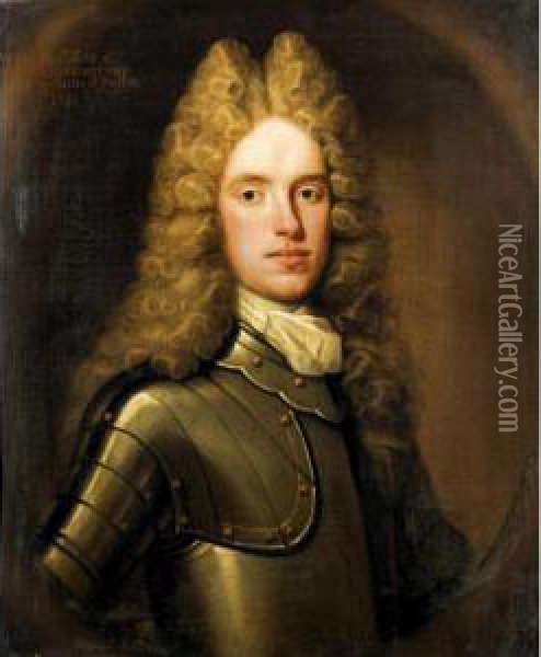 Portrait Of William, Son Of John, 8 Th Lord Elphinstone (d.1715) Oil Painting - William Aikman