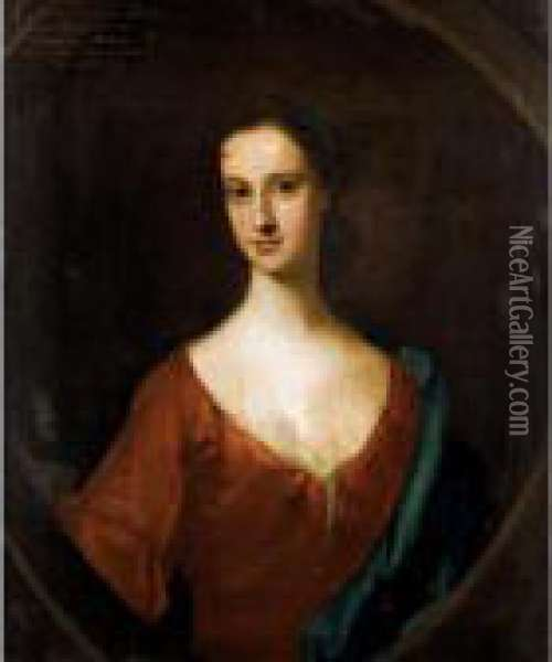 Portrait Of Elizabeth, Daughter Of John, 8 Th Lord Of Elphinstone Oil Painting - William Aikman