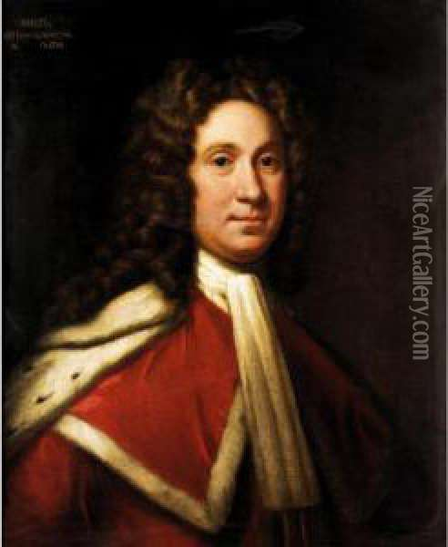 Portrait Of Charles, 9 Th Lord Elphinstone (1676-1738) Oil Painting - William Aikman