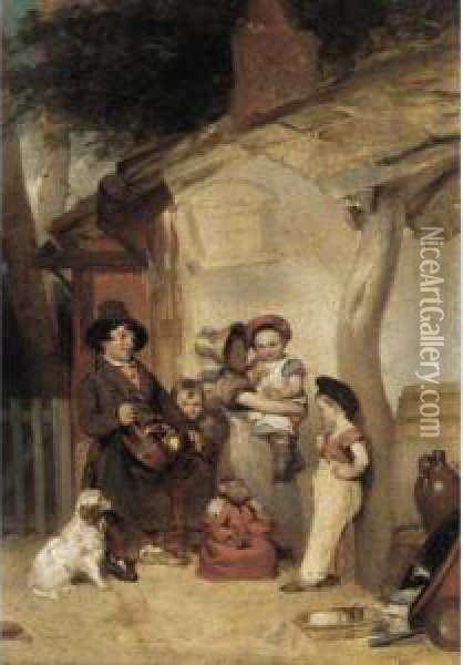 The Hurdy-gurdy Man Oil Painting - William Aikman