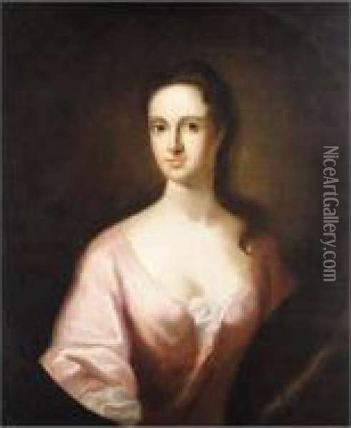 Portrait Of A Lady Oil Painting - William Aikman