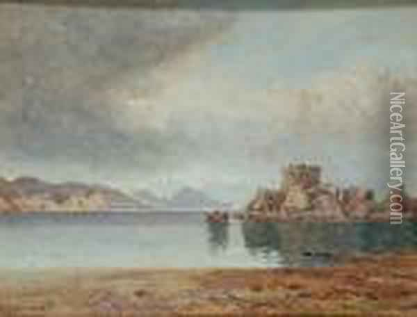 View Of A Scottish Castle Oil Painting - James Abbott McNeill Whistler