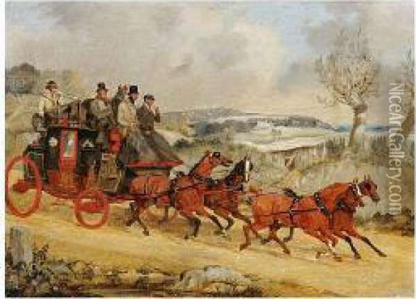 The Dover To London Royal Mail Coach Oil Painting - Herny Jr Alken