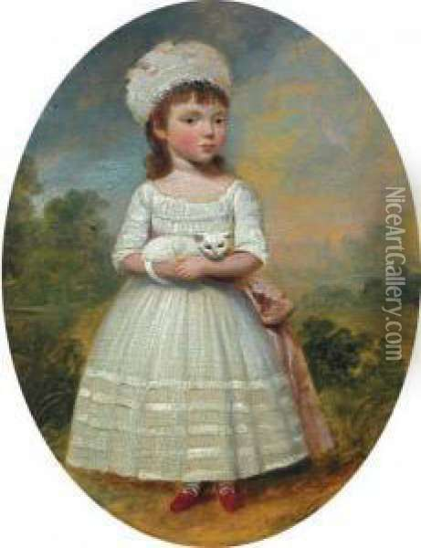 Portrait Of A Lady In A Garden Oil Painting - Francis Alleyne