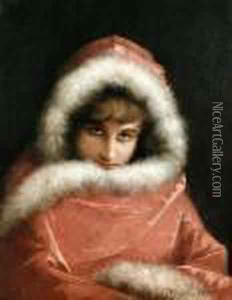 A Cloaked Beauty Oil Painting - Alonso Perez