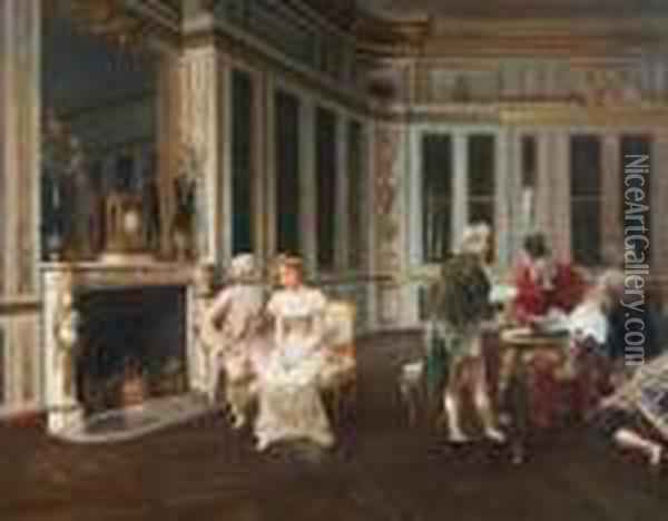The Marriage Contract Oil Painting - Alonso Perez