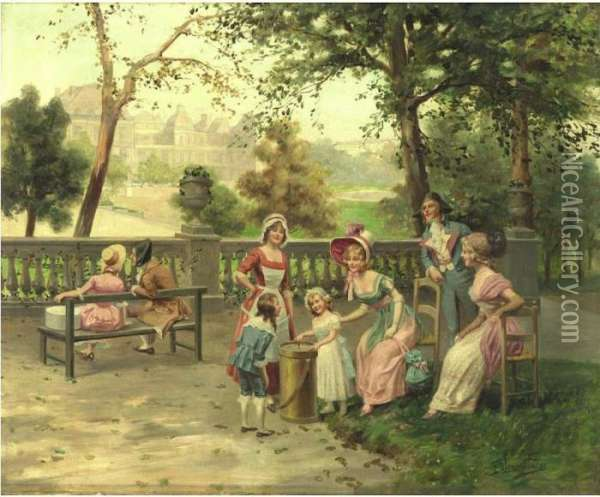 A Day In The Park Oil Painting - Alonso Perez