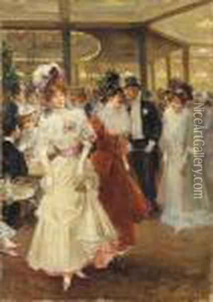 A Night On The Town Oil Painting - Alonso Perez
