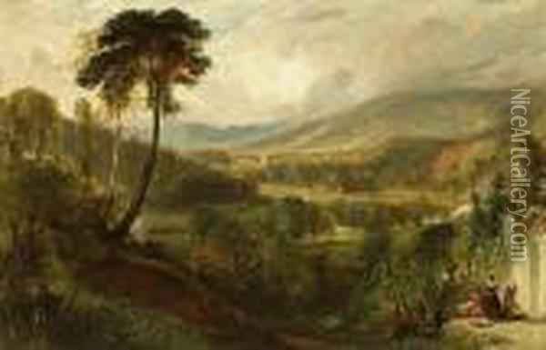 A View Near Holyrood Palace, Edinburgh Oil Painting - Henry Andrews
