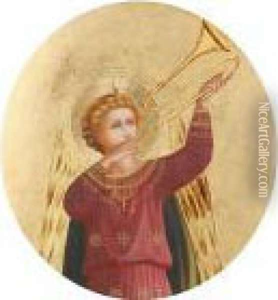 Angels Oil Painting - Fra Angelico (Guido di Pietro)