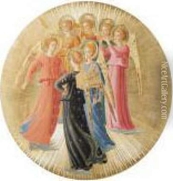 A Group Of Angels Oil Painting - Fra Angelico (Guido di Pietro)
