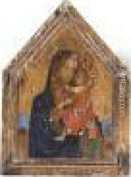 The Madonna And Child In A Landscape Oil Painting - Fra Angelico (Guido di Pietro)