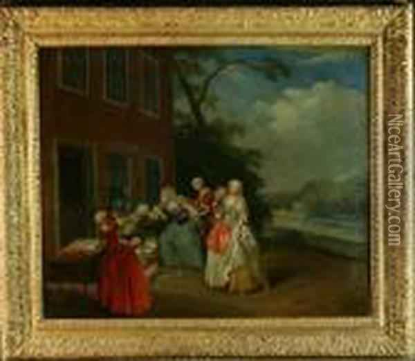 The Rivals Oil Painting - Pieter Angillis