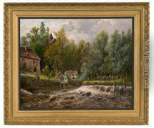 Landscape Oil Painting - Gaston Anglade