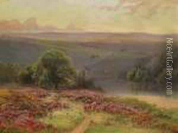 Landschaft Oil Painting - Gaston Anglade