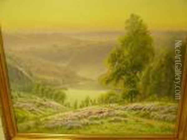 Paysage Aux Bruyeres Oil Painting - Gaston Anglade