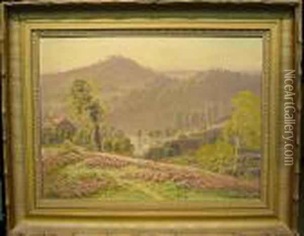 Valley Landscape Oil Painting - Gaston Anglade