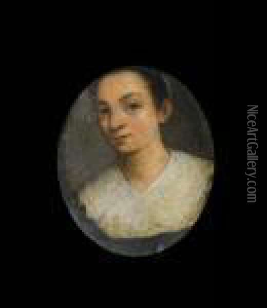 Portrait Of A Lady, Bust-length, With A White Lace Collar Oil Painting - Sofonisba Anguissola