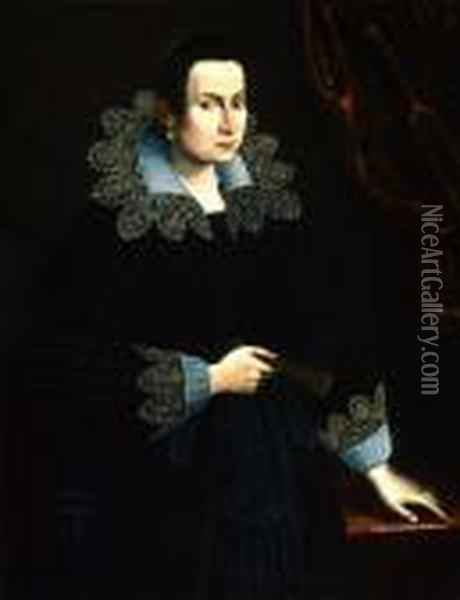 Portrait Of A Noblewoman Oil Painting - Sofonisba Anguissola