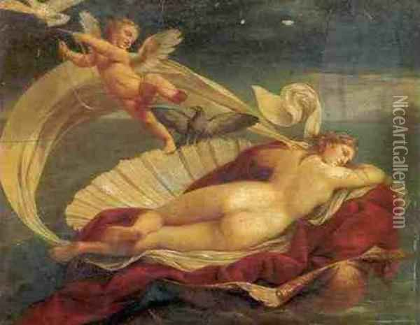 Venus Reclining On A Shell Oil Painting - Andrea, the Elder Appiani