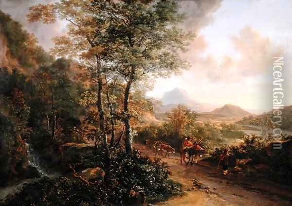 Italian Landscape, c.1637-41 Oil Painting - Jan Both