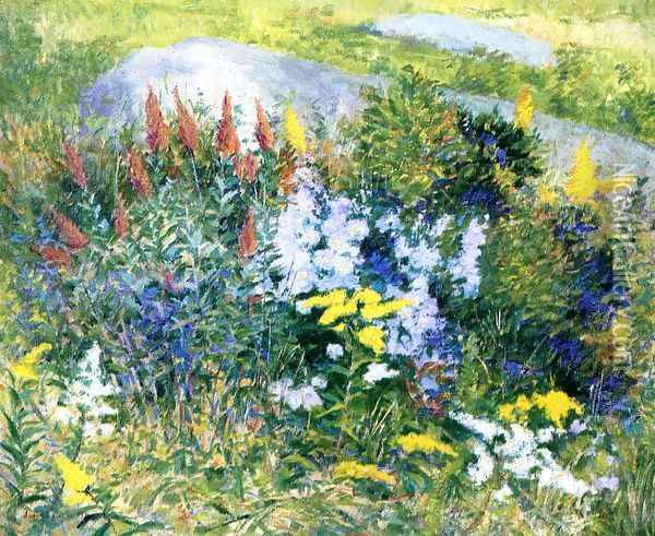 Rock Garden at Giverny 1897 Oil Painting - John Leslie Breck