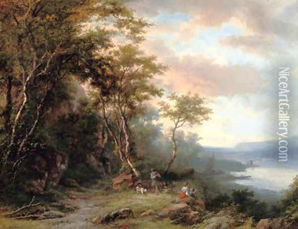 Looking out over the river Oil Painting - Willem Bodemann