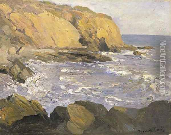 The Cove Oil Painting - Franz Bischoff