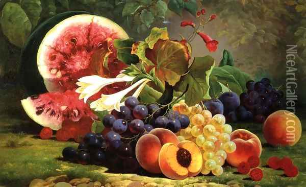 The Bounties of Nature Oil Painting - William Mason Brown