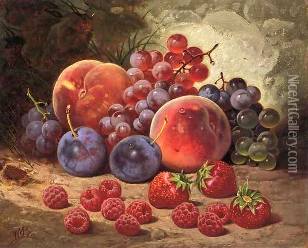 Fruits of Summer Oil Painting - William Mason Brown