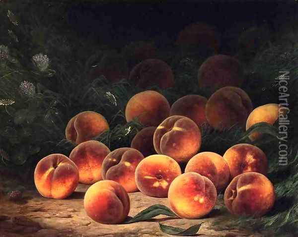 Bounty of Peaches Oil Painting - William Mason Brown