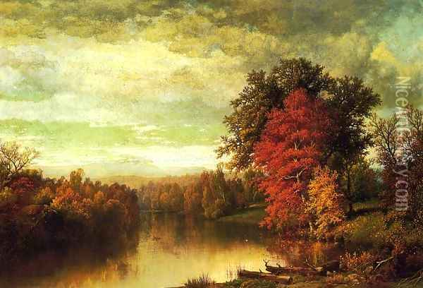 Color of the Fall Oil Painting - William Mason Brown