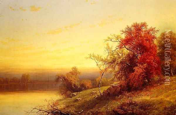 Autumnal Landscape Oil Painting - William Mason Brown