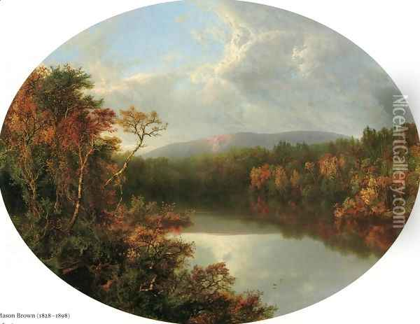 Autumn Reflections I Oil Painting - William Mason Brown