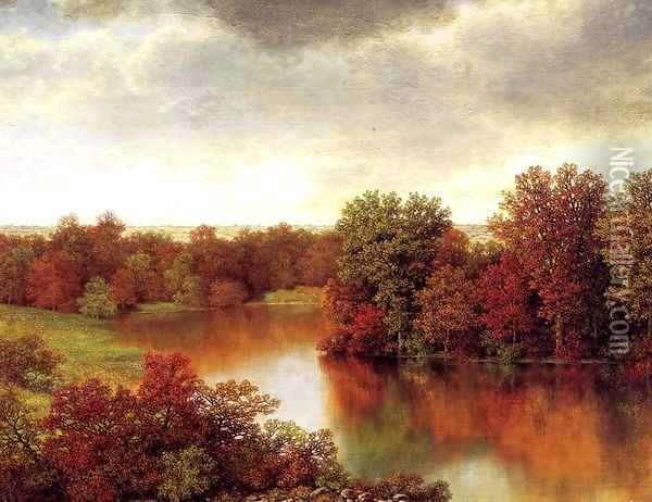 Bend in the River Oil Painting - William Mason Brown