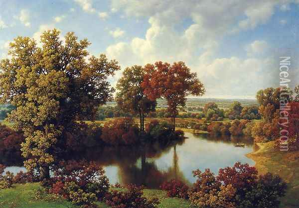 Autumn Reflections Oil Painting - William Mason Brown