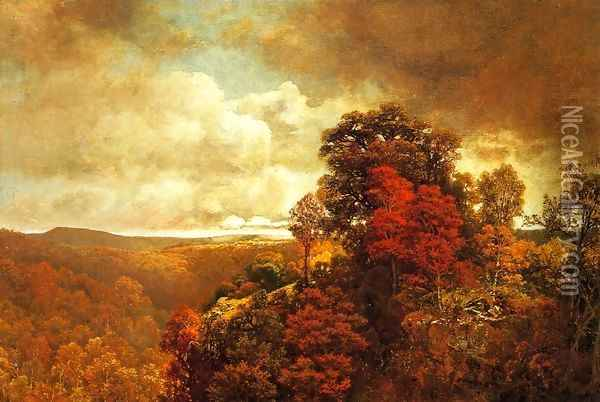 Autumnal Landscape I Oil Painting - William Mason Brown