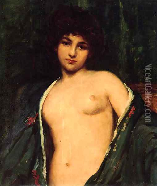 Portrait of Evelyn Nesbitt Oil Painting - James Carroll Beckwith
