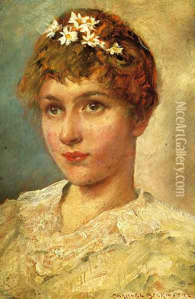 Margharite Oil Painting - James Carroll Beckwith