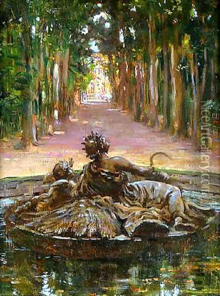 La Fontaine de Saturn Oil Painting - James Carroll Beckwith