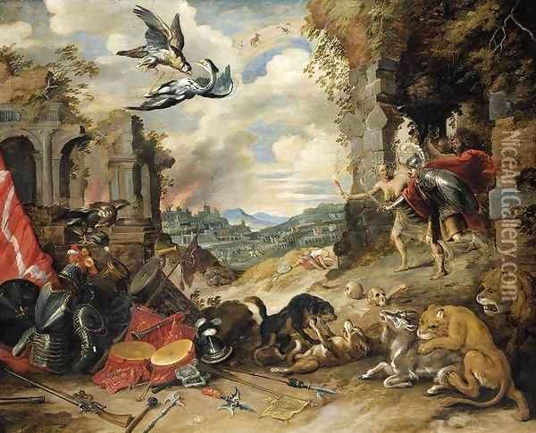 Allegory of War 1640s Oil Painting - Jan Brueghel the Younger