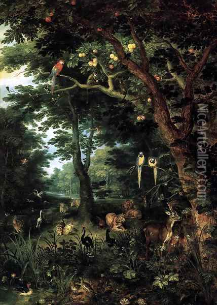 Paradise Oil Painting - Jan Brueghel the Younger