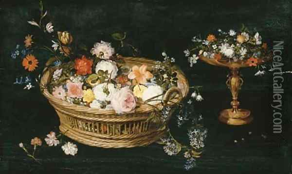 Roses Oil Painting - Jan Brueghel the Younger