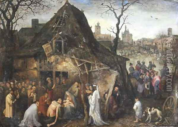 The Adoration of the Magi Oil Painting - Jan Brueghel the Younger